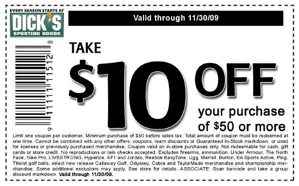 graphic about Academy Sports Coupons $10 Off Printable referred to as Dicks Carrying Solutions Archives - Absolutely free Things Situations Discount coupons