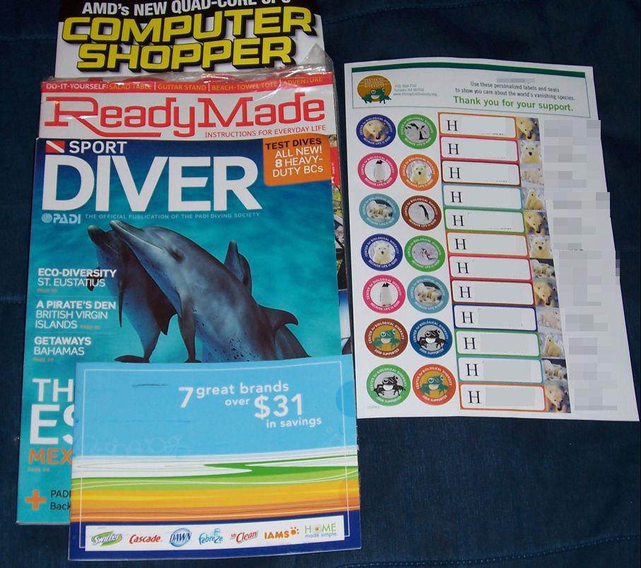 Computer Shopper, ReadyMade, Sport Diver, Home Made Simple