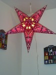pink hanging star lamp