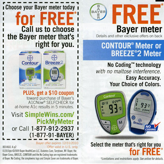 Free glucose meter and strips coupon canada online