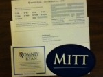 MITT sticker from Romney - Ryan for president