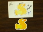 Shiny #LDOLOVE sticker from Little Duck Organics