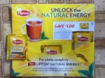 Lipton Natural Energy Premium Black Tea samples & coupon