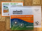 Zarbee's Naturals Seasonal Relief samples & coupon