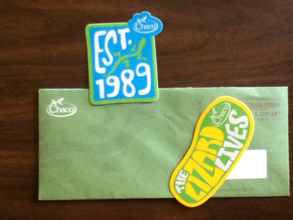 Chaco Stickers The Lizard Lives • Free Stuff Times What I Got
