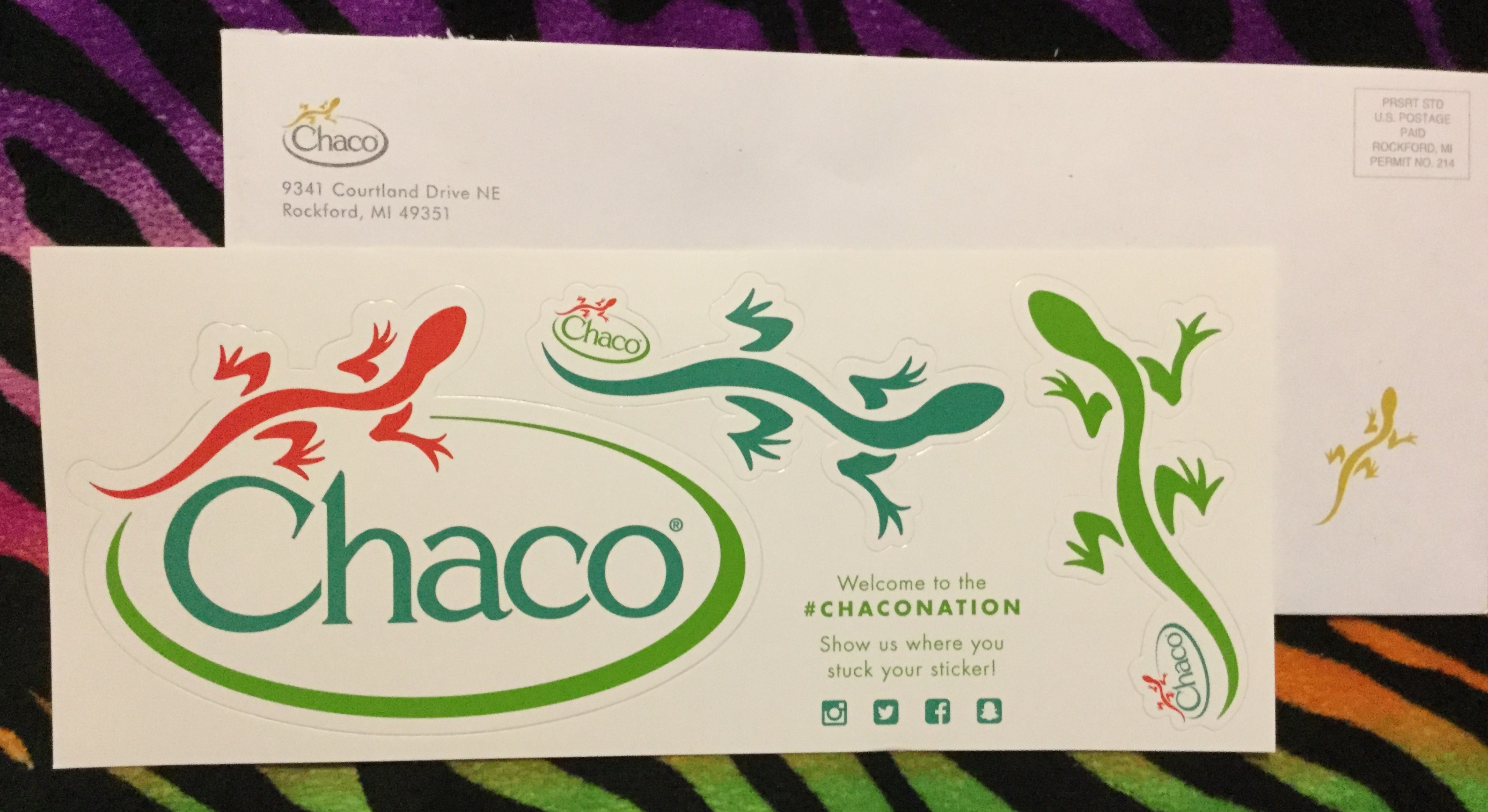 Free Chaco stickers • Free Stuff Times What I Got