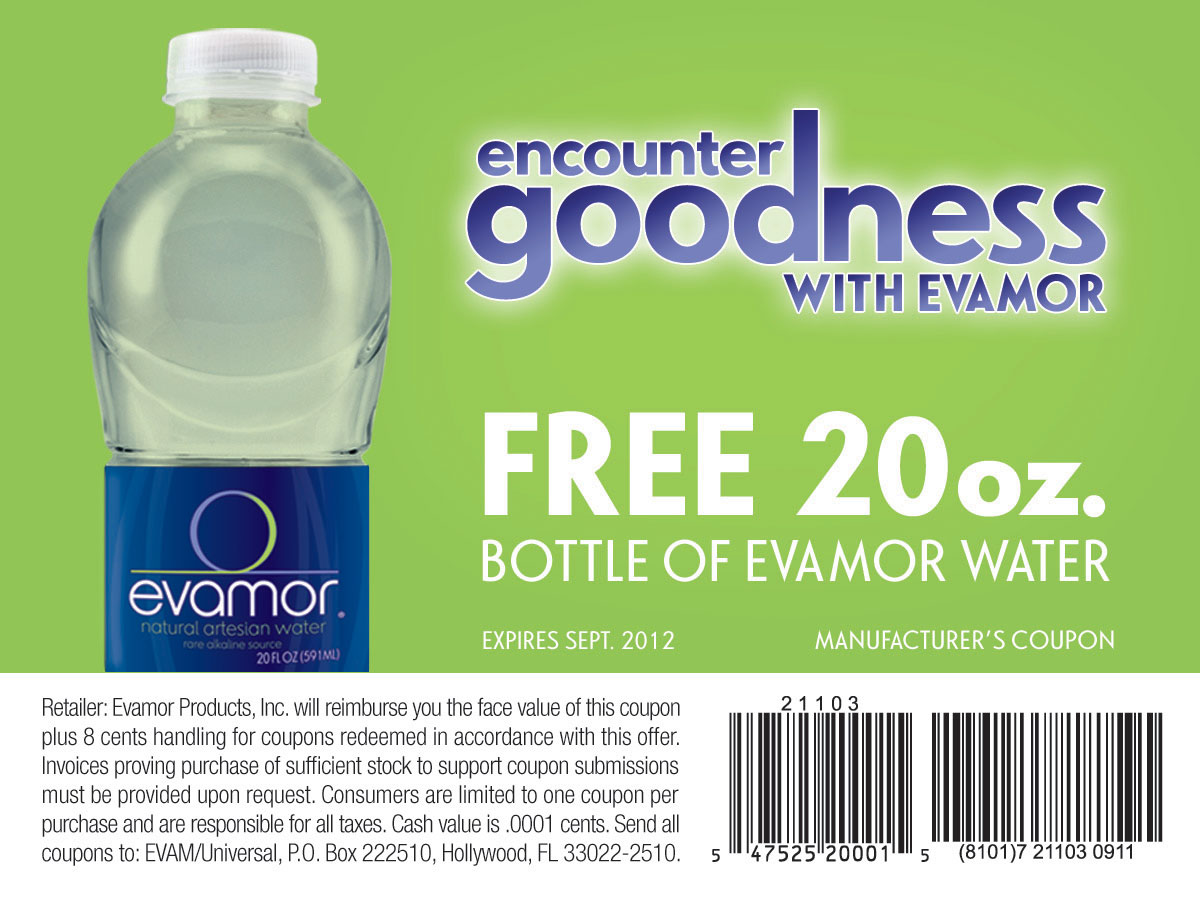 freestufftimes eva Free 20 oz. Bottle of Evamor Water