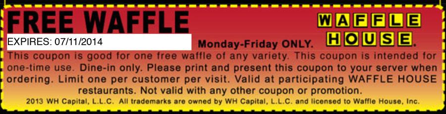 FREE Waffle at Waffle House...