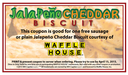 FREE Jalapeno Cheddar Biscuit.